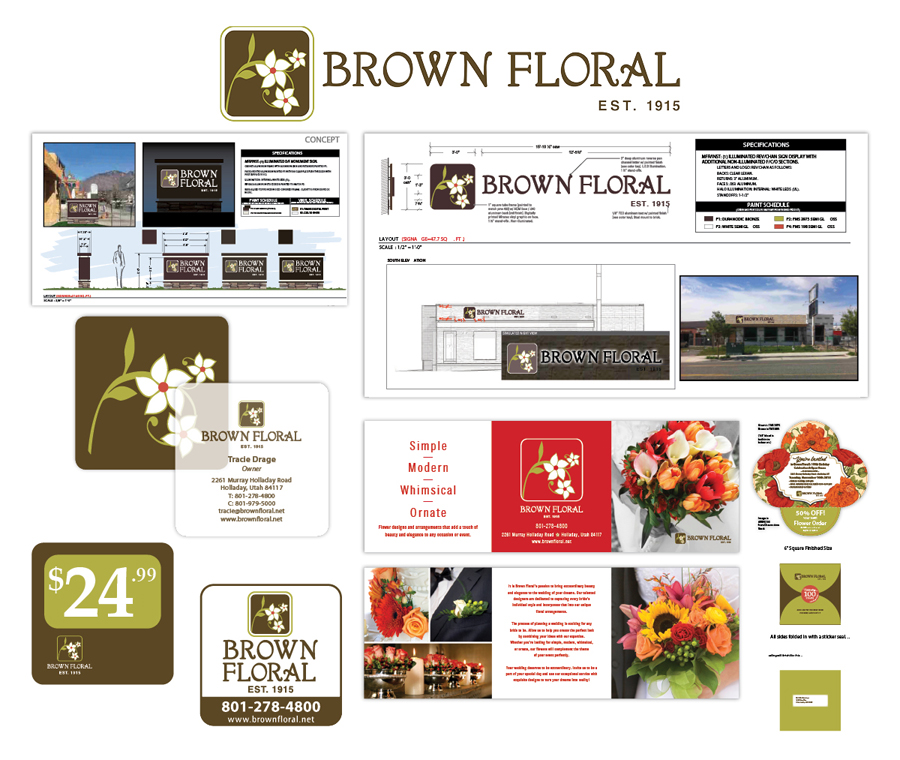 Brown Floral Updates & New Creative Collateral Designed by EXPAND