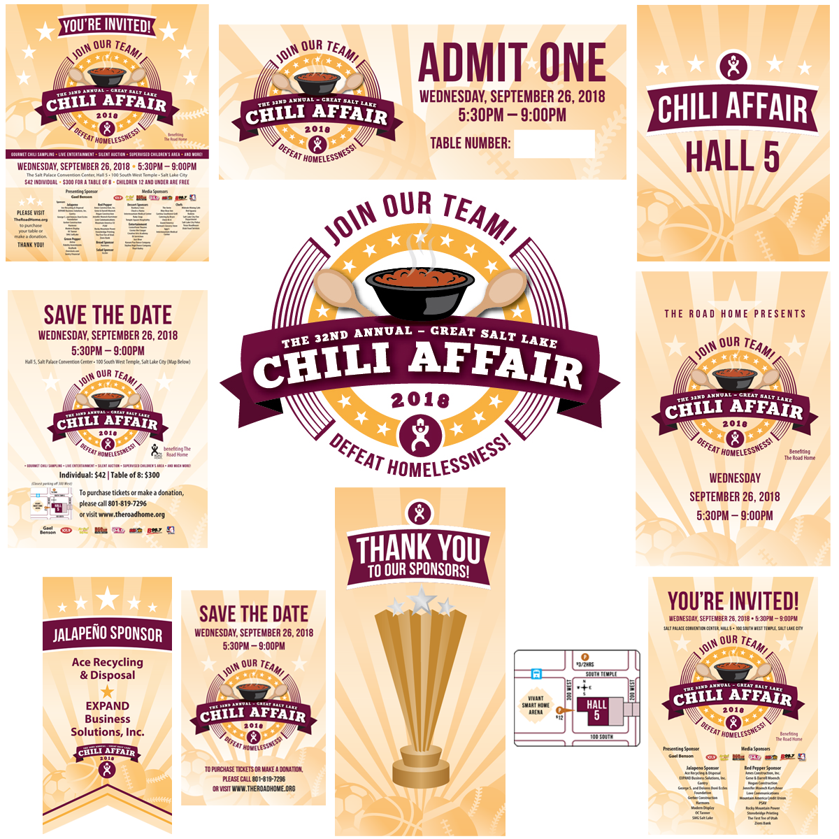 The Road Home Chili Affair Creative Collateral Designed by EXPAND